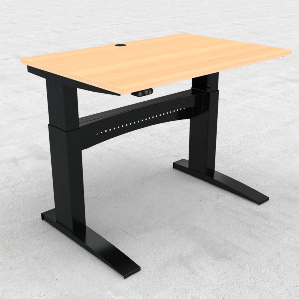 Electric Adjustable Desk | 120x80 cm | Beech with black frame