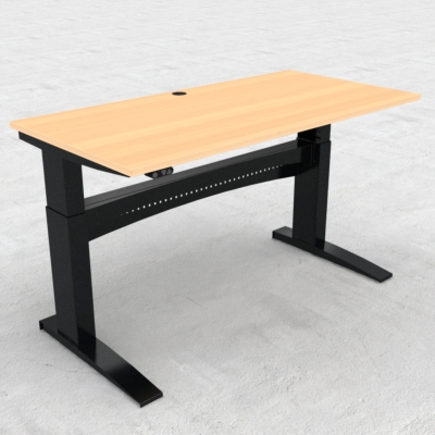Electric Adjustable Desk | 160x80 cm | Beech with black frame
