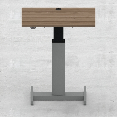 Electric Adjustable Desk | 80x60 cm | Walnut with silver frame