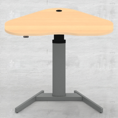Electric Adjustable Desk | 117x90 cm | Beech with silver frame