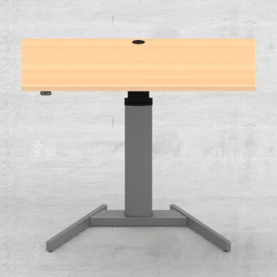Electric Adjustable Desk | 120x80 cm | Beech with silver frame