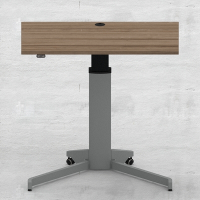 Electric Adjustable Desk | 100x60 cm | Walnut with silver frame