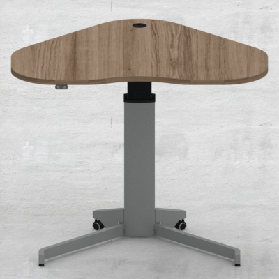 Electric Adjustable Desk | 117x90 cm | Walnut with silver frame