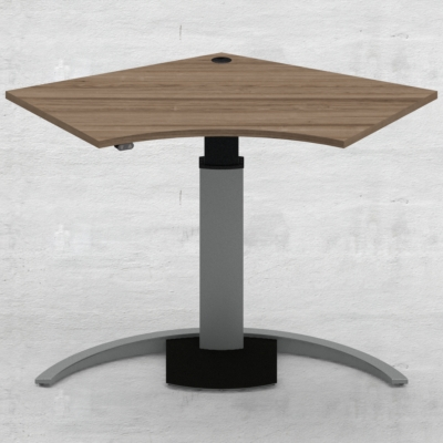 Electric Adjustable Desk | 138x92 cm | Walnut with silver frame