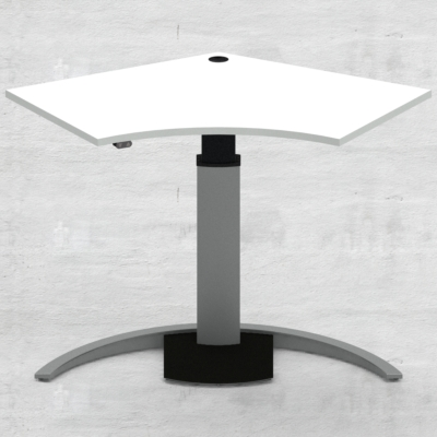 Electric Adjustable Desk | 138x92 cm | White with silver frame
