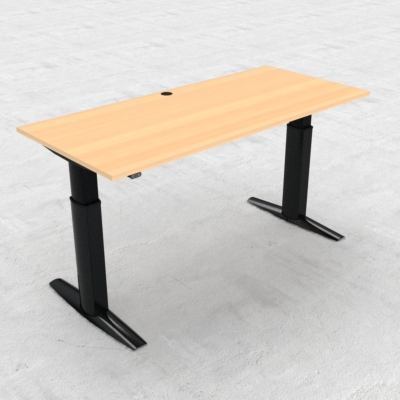 Electric Adjustable Desk | 180x80 cm | Beech with black frame