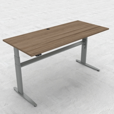 Electric Adjustable Desk | 180x80 cm | Walnut with silver frame