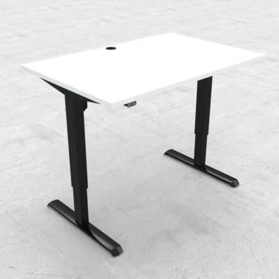 Electric Adjustable Desk | 120x80 cm | White with black frame