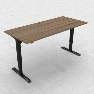 Electric Adjustable Desk | 180x80 cm | Walnut with black frame