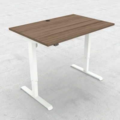 Electric Adjustable Desk | 120x80 cm | Walnut with white frame