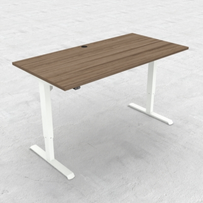 Electric Adjustable Desk | 160x80 cm | Walnut with white frame