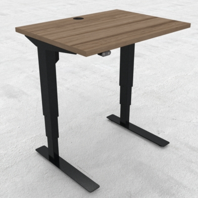 Electric Adjustable Desk | 80x60 cm | Walnut with black frame