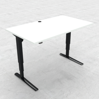 Electric Adjustable Desk | 140x80 cm | White with black frame