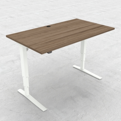 Electric Adjustable Desk | 140x80 cm | Walnut with white frame
