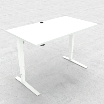 Electric Adjustable Desk | 140x80 cm | White with white frame