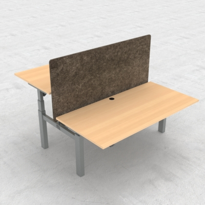 Electric Adjustable Desk | 160x80 cm | Beech with silver frame