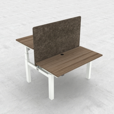 Electric Adjustable Desk | 120x60 cm | Walnut with white frame