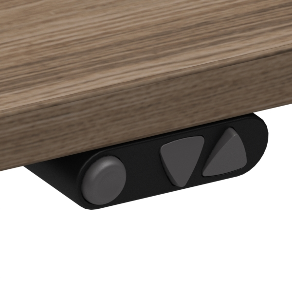 Electric Adjustable Desk | 180x180 cm | Walnut with black frame