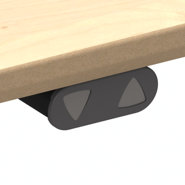 Electric Adjustable Desk | 60x60 cm | Maple with black frame