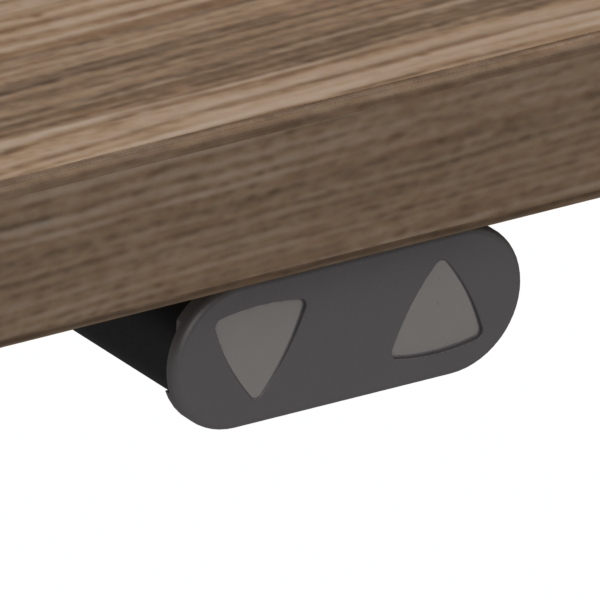 Electric Adjustable Desk | 140x80 cm | Walnut with black frame